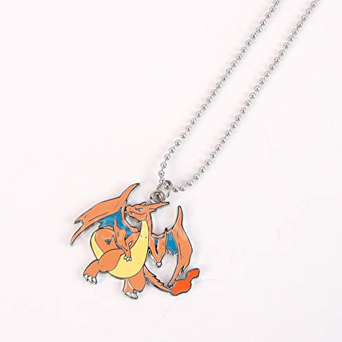 charizard necklace pendant chain jewelry animation around tail wings flying fire breathing dragon - Fire Breathing Pendant Dragon