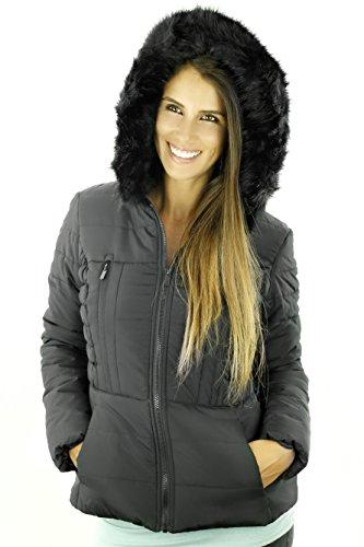 Sportoli Junior Womens Rouched Detail Winter Coat Hooded Short Puffer Jacket
