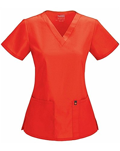 Code Happy V-Neck Top | Coral Reef Size - Scrub Flare Fit