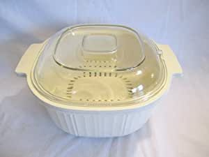 Rubbermaid 3 Quart Microwave Cookware Stackable Steamer Casserole Cooker - 3 piece set