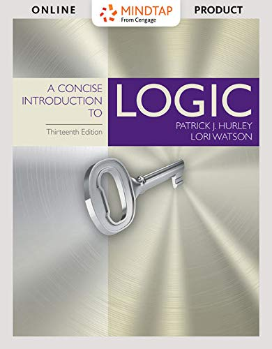 MindTapV2.0 for Hurley/Watson's A Concise Introduction to Logic, 13th Edition [Online Code] by Cengage Learning
