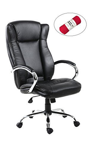 HollyHOME High Back Big and Tall PU Leather Office Executive Chair with Luxury Back