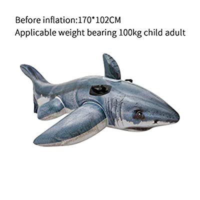 Inflatable Swimming Ring Pool Floats for Kids Adults????????, Simulation Shark Pool Floats ,Learning Swimming, Outdoor Swimming Safety Products, for Summer Beach Swimming Party: Toys & Games