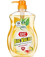 UIC Big Value Dishwashing Liquid (Anti-Bacterial) Pump, 1000ml