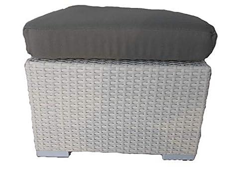 Mobili Per Esterni In Rattan Sintetico.Fantasie D Oriente Sgabello Puff Tavolino Rattan Sintetico Bianco