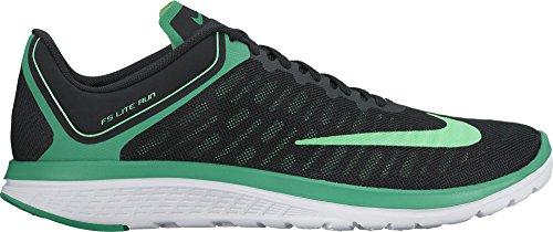 Men's Nike FS Lite Run 4 Running Shoe Black/Green/White Size 11 M US (Green Nike Running Shoes)