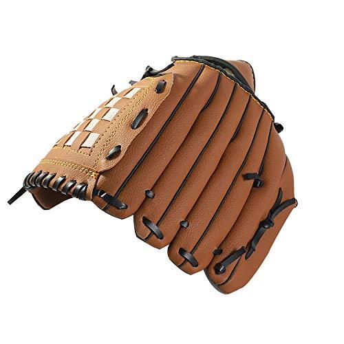 Children Baseball Gloves Kid Professional Left Catchers Mitts Boy PU Leather Gloves Thicken Pitcher Softball Gloves for Youth Battery Baseball Glove for Pitcher Beginner Training Left Hand Throw