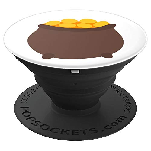 Leprechaun Pot of Gold at End of Rainbow - PopSockets Grip and Stand for Phones and Tablets