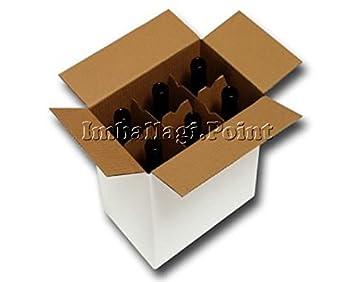 Pezzo scatola cartone spedizione bottiglie vino liquori