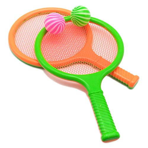Children Kids Play Game Plastic Tennis Racket Sports Toy 2 Rackets Set