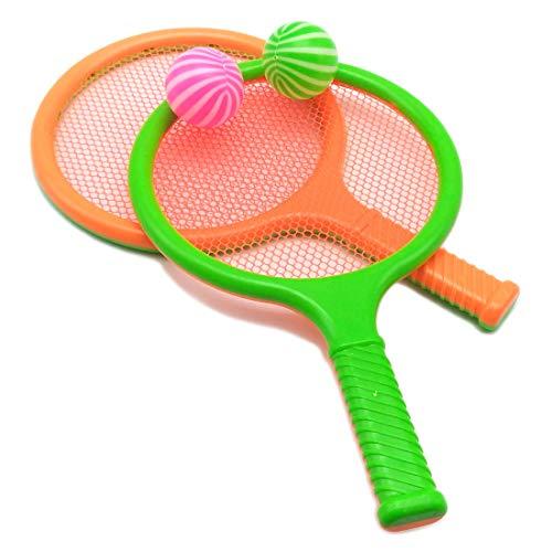 (Children Kids Play Game Plastic Tennis Racket Sports Toy 2 Rackets Set (Orange))