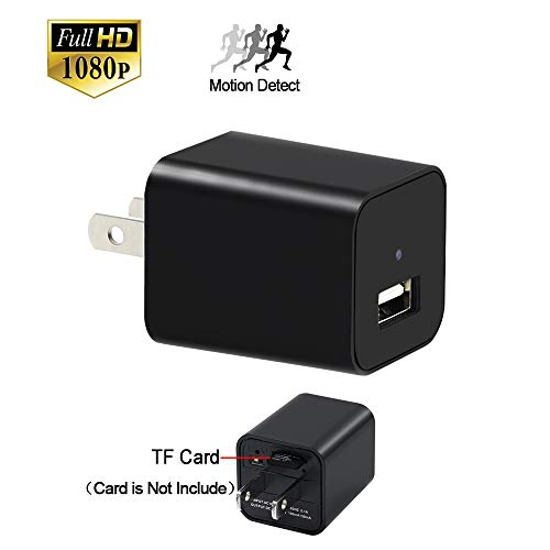 Mini Camera, YYCAMUS 1080P HD Spy Camera charger with Motion Detection Loop Video Record for Home Office Security Surveillance - Can support 32GB Removable Memory by YYCAMUS