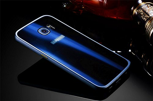 Samsung Galaxy S7 Edge Caso, Vandot de 360 Grados Alrededor de Todo el Cuerpo Completo de Protección Ultra Thin Slim Fit Cubierta de la Caja de Mate PC Absorción de impactos Shockproof para Samsung Ga XCK-Bleu