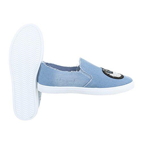 Ital-Design - Zapatillas de casa Mujer Hellblau FC-V205