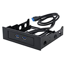 """SEDNA - 2 Port USB 3.0 Floppy Bay Front Panel with 20 Pin Connector (5.25"""" mounting kit included)"""