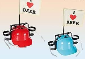 """Out of the Blue - Casco con sistema de hidratación (incluye banderilla), diseño de """"I love beer"""""""