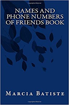 Names and Phone Numbers of Friends Book