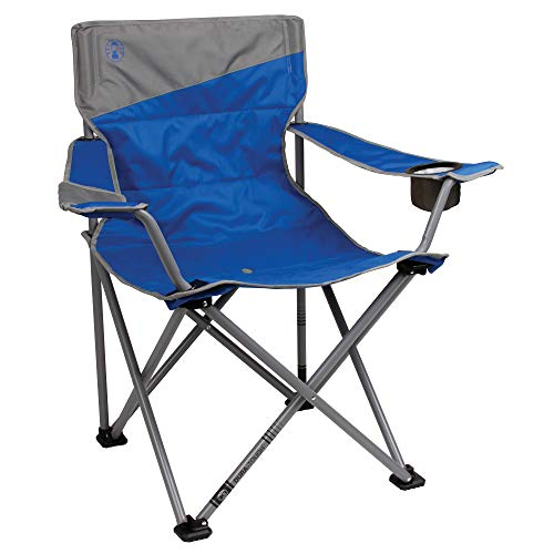Coleman Camping Chair for Big and Tall Adults|Tailgating Chair |Beach Chair|Portable Quad Chair for Big and Tall Adults for the Outdoors (Chairs Best Outdoor)