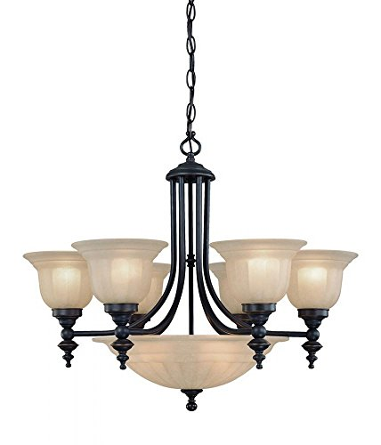Dolan Designs 665-78 6 3Lt Bolivian Richland 9 Light Bowl Chandelier