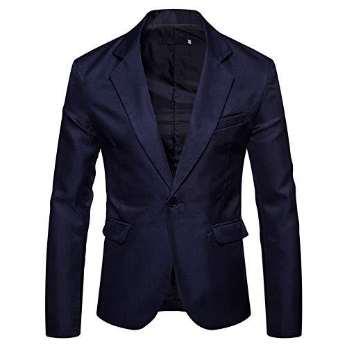 YOUTHUP Blazer de Hombre Chaqueta de Traje Slim Fit Americana para Hombre Color Puro