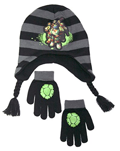 Nickelodeon Boy's Cold Weather Paw Patrol And TMNT Hat And Glove Set