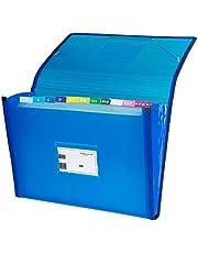 Grafoplás 02963030-Carpeta clasificadora con fuelle, tamaño folio, color azul