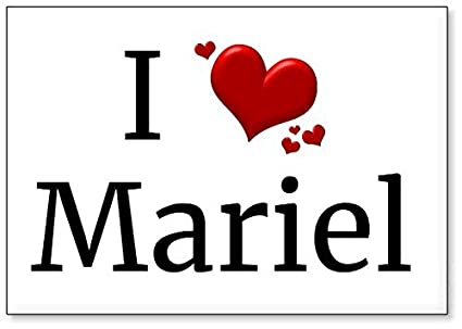 314a1057f5a9 Amazon.com: I Love Mariel, fridge magnet (design 1): Kitchen & Dining