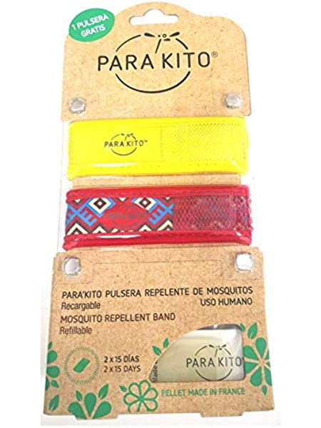 Pastillas 2X15 DIAS Parakito Kids Pulsera Repelente Mosquitos 2X1