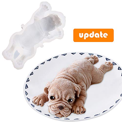 - Silicone Molds Dog Shape Cake Mold Topper Shar Pei Cake Molds - Food Grade 3d Silicone Candle Chocolate Pudding Ice Cream Fondant Mold - DIY Mousse Decoration Baking Mould Easy Demould (Generation 2)