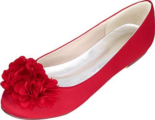 Red 36 5 Femme Compensées Rouge Sandales Find EU Nice qwxYgXTXH
