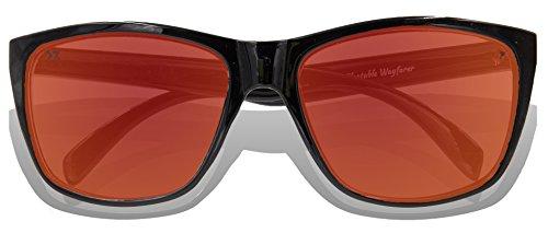 Lens Glossy KZ de Red Black adulte Revo Lunettes soleil Frame Full IZ76qvZ