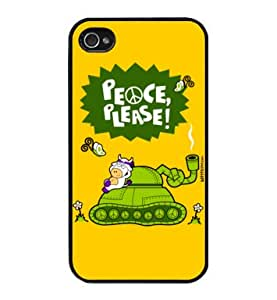 Peace, Please - Funda Carcasa para Apple iPhone 4 / iPhone 4S