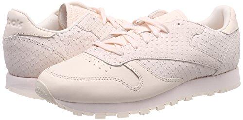 Ii Ginnastica Scarpe Basse pale Pink Da Classic Leather Donna Rosa 000 Reebok Eqx7XX