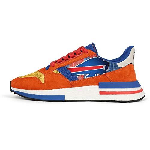 Men's Lightweight Orange Blue Retro Cross-Country Running Sneakers ()