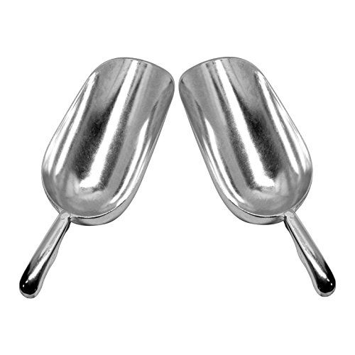 - Set of 2 Large (24 Oz.) BonBon Aluminum Ice Scoop, Dry Goods Bar Scooper High Grade Commercial Scoop