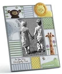 You Were Wonderfully Made Baby Picture Photo Frame with Zoo Animals Nursery