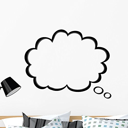 Wallmonkeys Thought Bubble Wall Decal Peel and Stick Vinyl Graphic (36 in W x 30 in H) WM269897