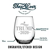 Shop4Ever Trump 2020 Stars Laser Engraved Stemless