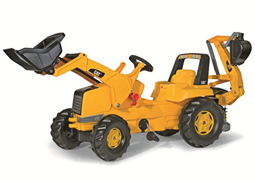 rolly toys CAT Construction Pedal Tractor: Backhoe Loader (Front Loader and Excavator/Digger), Youth Ages ()