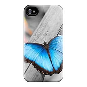 Great Hard Phone Covers For Iphone 4/4s With Custom High-definition Butterfly Pictures AlainTanielian