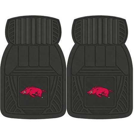 NCAA 4-Piece Front #36572594 and Rear #19888859 Heavy-Duty Vinyl Car Mat Set, University of Arkansas by Sports Licensing Solutions LLC