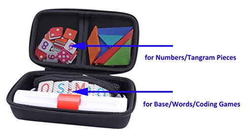 Storage Organizer Case for Osmo Genius Kit, fits OSMO Base/Starter/Numbers/Words/Tangram/Coding Awbie Game by Aenllosi (Black) by Aenllosi (Image #6)