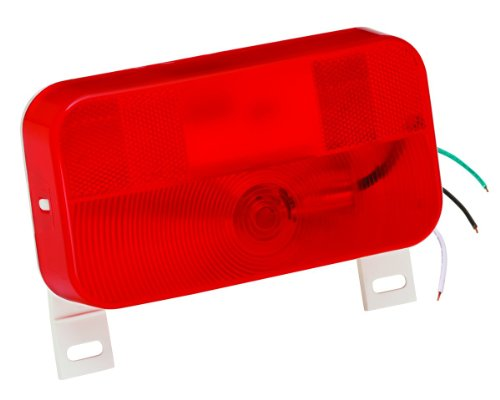Bargman 34-92-003#92 Series Red Surface Mount Tail Light with License Bracket