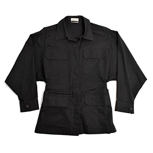 証人の配列避ける(エルメス) HERMES シャツジャケット ブルゾン コットン レディース ブラック 黒 36 XS 5号相当 [中古]