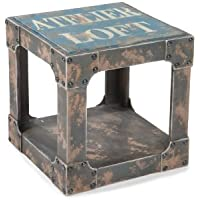 Moes Home Collection 15.8-Inch Loft Group Side Table, Blue