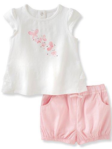 absorba Baby Girls Short Set, Pink 0-3 Months