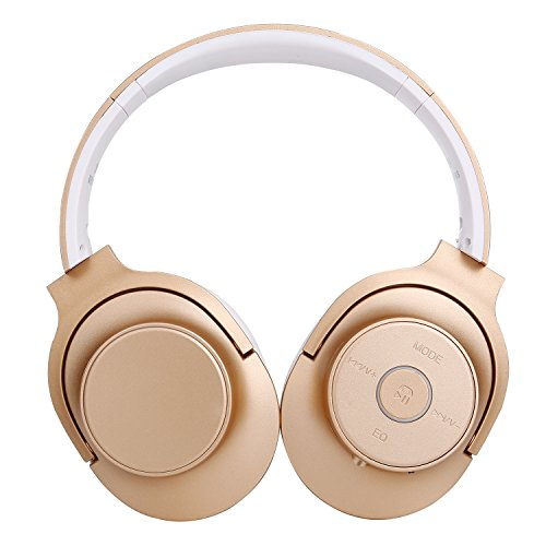 Bluetooth Headphones, 22 Hours Playtime for TV Computer Travel Work Training (gold)