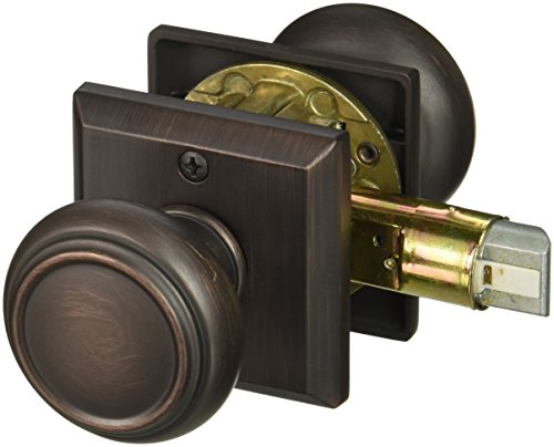 Baldwin PSTRATSR112 Reserve Passage Traditional with Traditional Square Rose in Aged Bronze Finish