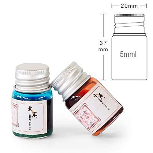 Connoworld 24 Colors Calligraphy Writing Painting Fountain Pen Ink with Glitter Powder School Office Supplies(5ML) T by Connoworld (Image #6)