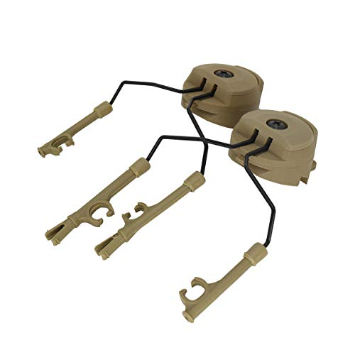 TAC-SKY ARC Rail Adapter Helmet Headset Left & Right Side Attachments for Comta Headphones (tan)